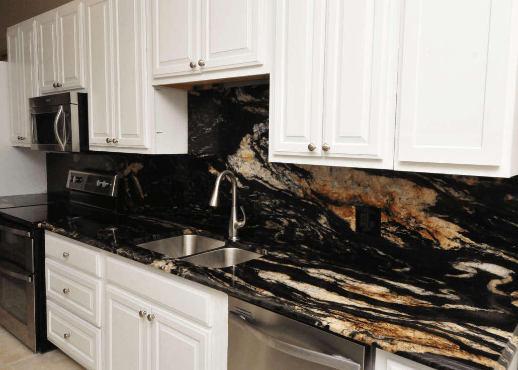 Backsplash Ideas For Granite Kitchens And Bathrooms on What Backsplash Goes With Black Granite  id=72245