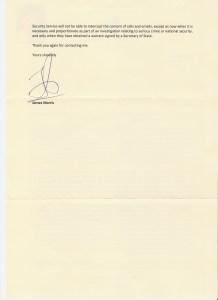 James Morris Response Letter Page 2
