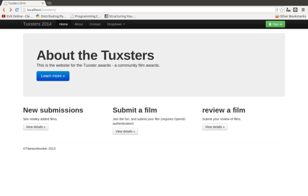 Tuxsters home page