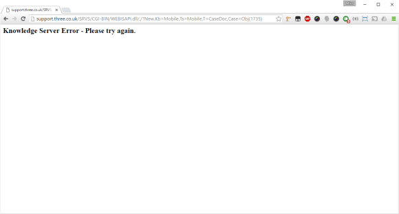 Knowledge server down...
