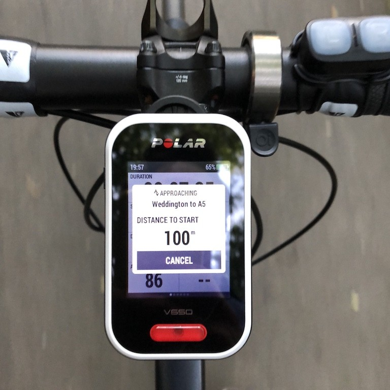TitaniumGeek IMG 0306 Polar V650 2018 Cycling Computer Review Cycling Cycling Computers and GPS Units Gear Reviews  Polar GPS cycling   Image of IMG 0306