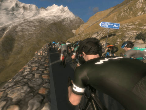 TitaniumGeek Stelvio 11 1 Zwift   Jedi Drafting Skills Cycling Indoor cycling Smart Trainers Turbo training Turbo Training Zwift  zwift racing Zwift pace partners gaming esport eracing drafting. cadence sport bike fit   Image of Stelvio 11 1