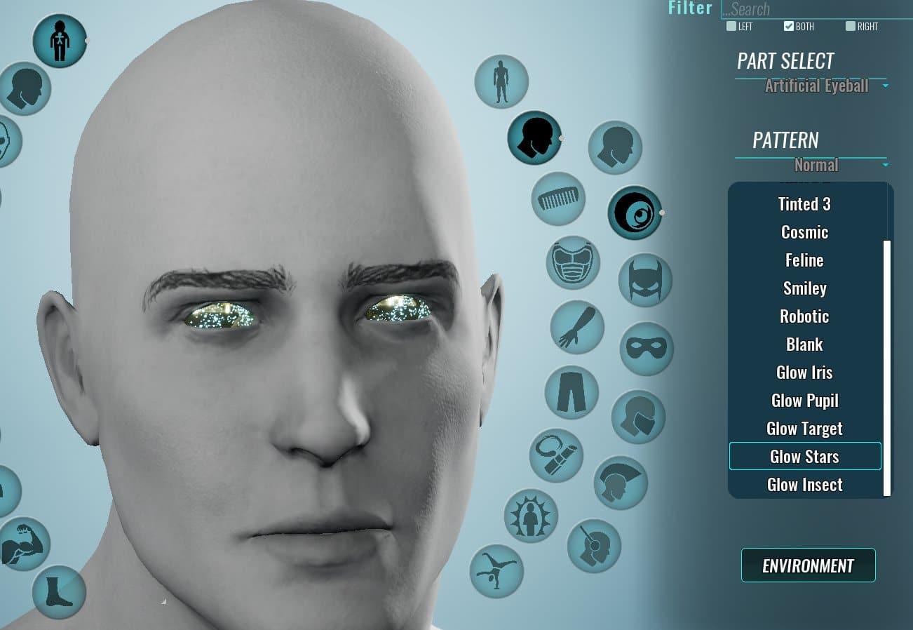 Nouveau matériau du globe oculaire cosmique