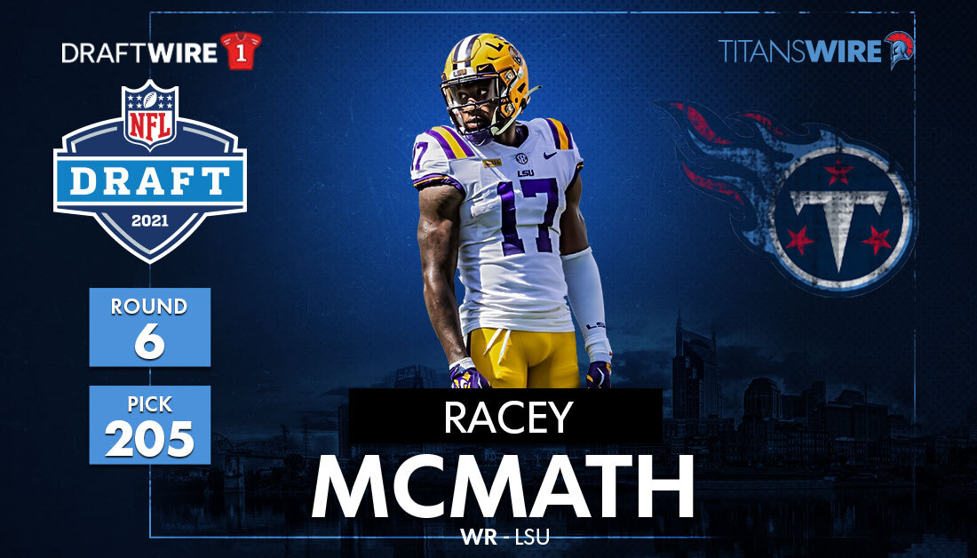 New Tennessee Titans WR Racey McMath: How he fits