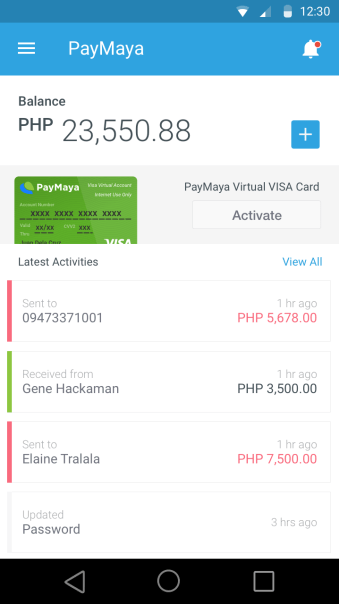 Both the virtual and physical PayMaya cards share the same load balance