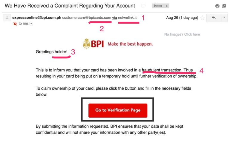 If You Are A Bpi Account Holder Beware Of This Phishing Attempt Tita Techie