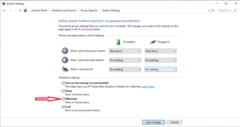 Add Hibernate Option To Start Menu In Windows 10