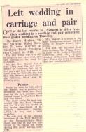 51 newspaper cutting of grandparents golden wedding