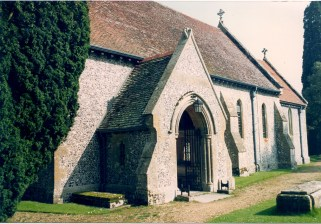 Hinton Ampner Parish Church taken in 1992