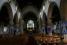 Inside St Joh the Baptist Church in New Alrresford