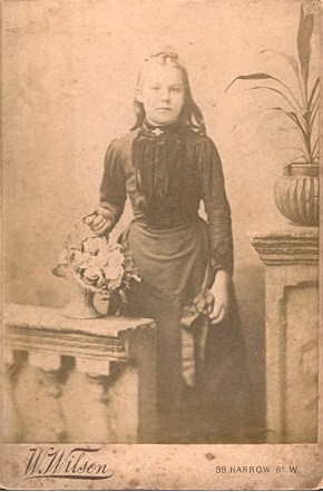 probably rose titheradge (nee moss) from photographs address taken 1887 -1891