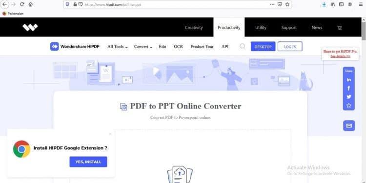 PDF ke PPT HiPDF Choose Files