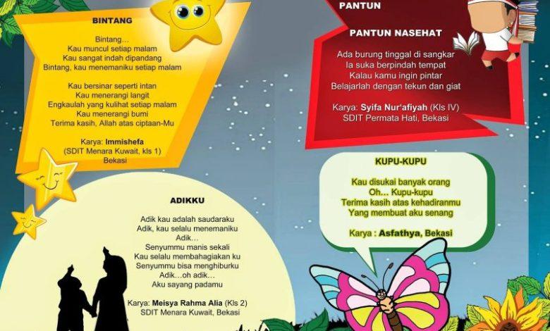 53 Puisi Anak Sd Indonesia Tentang Alam Keluarga Dan Pendidikan