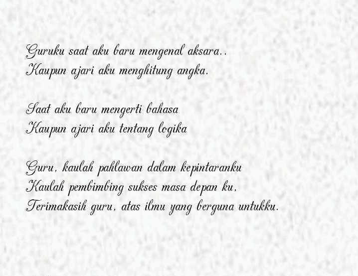 Puisi terima kasih guru