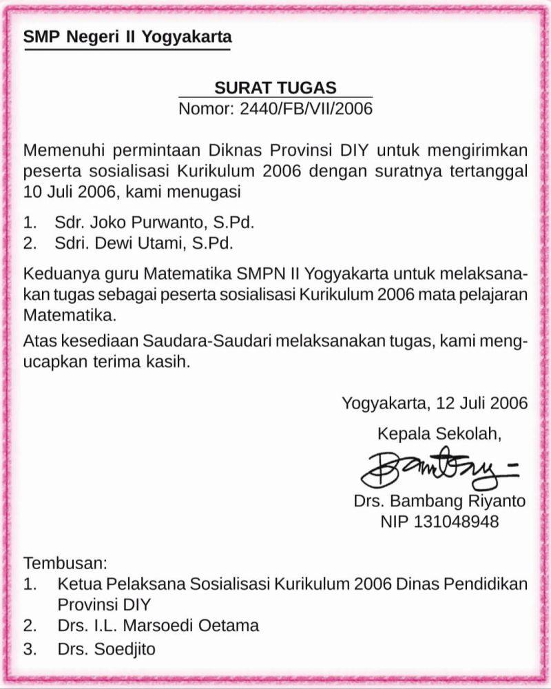 8 Contoh Surat Dinas Resmi yang Baik dan Benar (Struktur ...