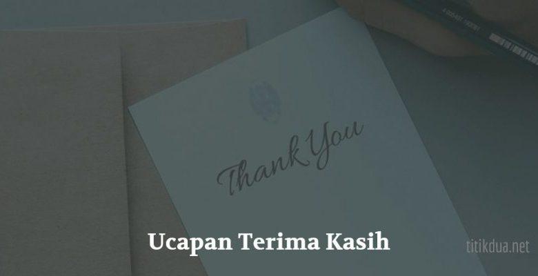Ucapan Terima Kasih