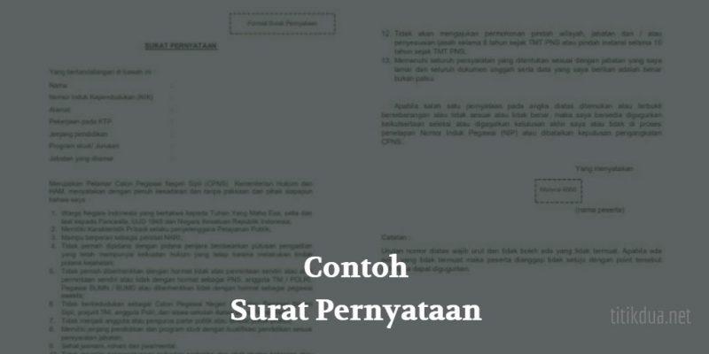 14 Contoh Surat Pernyataan Lengkap Untuk Berbagai Keperluan