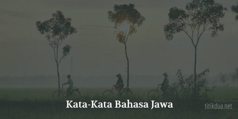 Kata Kata Bahasa Jawa