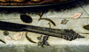 detalle-del-cuadro-mesa-en-el-cuchillo-aparece-la-firma-de-clara-peeters