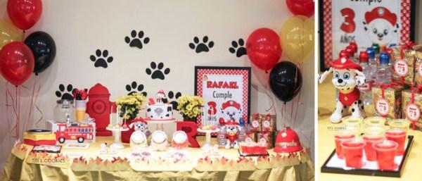 Mesa de dulces Patrulla Canina