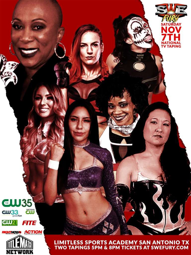 SWE Fury Nov 7 2020 Women Wrestling Poster 18x24