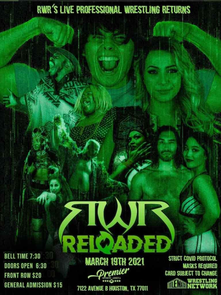 RWR Reloaded Poster 3.19.21 Title Match Network 18x24