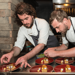 Sam-Lambet-of-64-Degrees-and-Jimmy-Gray-of-Jeremys-Restaurant-at-Food-Lab---photo-Julia-Claxton