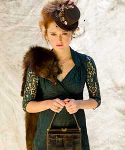 Lana-dress-in-forest-green-lace-£179-by-Pretty-Eccentric