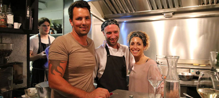 Owner Lee Shipley, head chef John Reed and assistant manager Cristina Garcia Viera