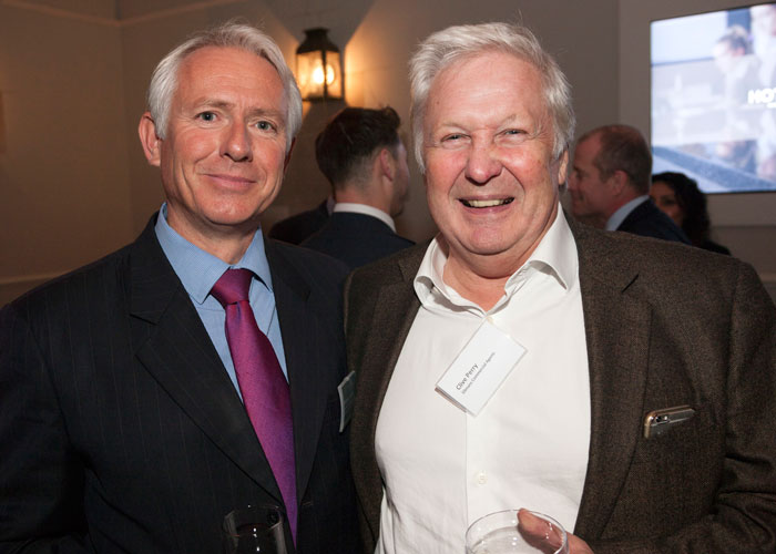 Healys Nicholas Taylor with Clive Perry of Ellmans Commercial Agents