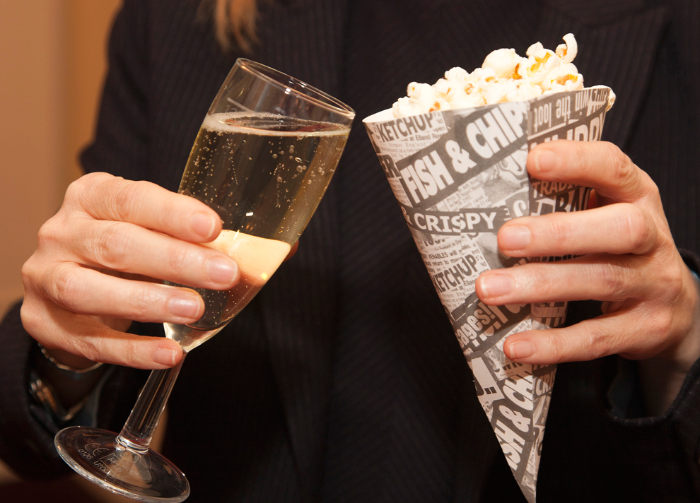 champagne welcome popcorn