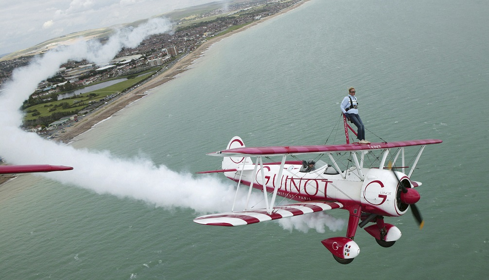 Jan Leeming wing walking by Graham Franks Title Sussex Magazine www.titlesussex.co.uk