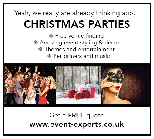 Event Experts Christmas party bookings www.event-experts.co.uk