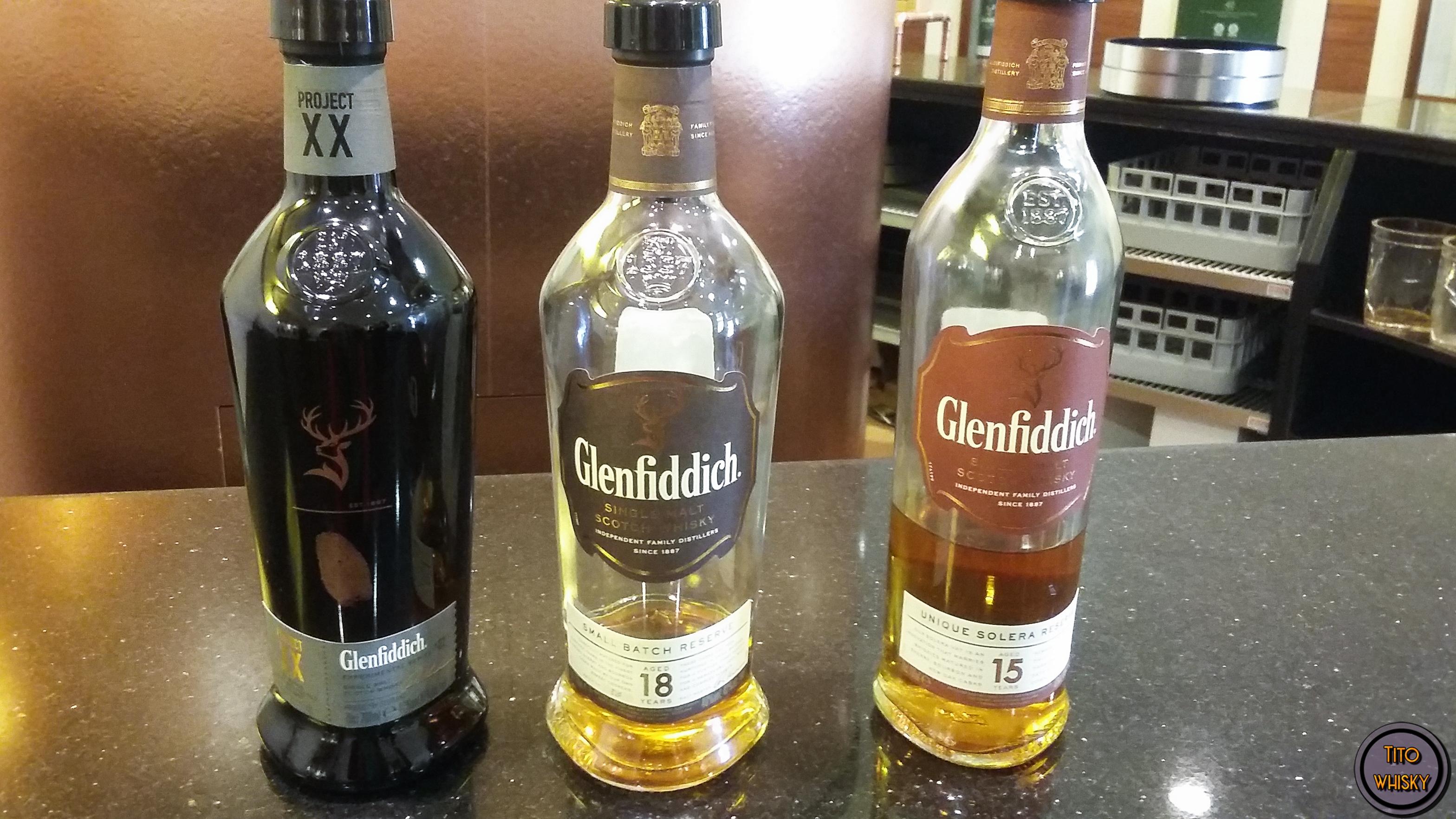 Degustación de whisky Glenfiddich