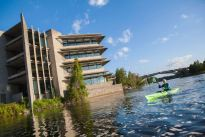 Trent University, Peterborough, Ont. Trent's new president and vice-chancellor, Dr. Leo Groarke keeps a kayak in his office and often takes advantage of the Otonabee River just outside his door.