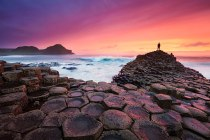 Giants Causeway Beach, Ireland. The giant's causeway was formed 50-60 million years ago when basalt lava rose to the surface and cooled, cracking into strange, large columns. Image credits: Michael