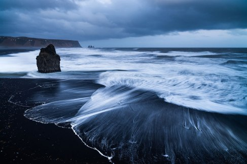 Vik Beach, Iceland. Iceland is a land with a lot of volcanic activity, which is why black volcanic beaches are so common there. Image credits: Stephan Amm