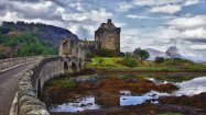 Eilean Donan - Loch Duich, Scotland. Located in the Highlands of Scotland, the Eilean Donan island sat abandoned until 1911, when it was restored by a prominent retired military officer.