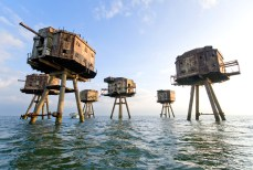 Red Sands Sea Forts - Sealand, United Kingdom. Originally built during World War II to protect the River Thames, these forts are now lifeless. Except for those that have been claimed by Sealand, a micronation off the shore of England.
