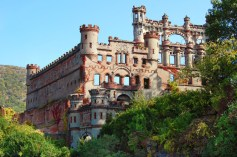 Bannerman Castle - Pollepel Island, New York. Bannerman Castle's owner, Francis Bannerman VI, built the structure as storage space after buying the American military surplus from the war with the Spanish. After 200lbs of ammunition exploded in 1920, much of the castle was destroyed and the rest abandoned.