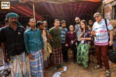 Visiting Old fruit and Fish Bazaar in Old Dhaka. Mostafa Azizi, Pooyan Tabatabai, Majid Movasseghi