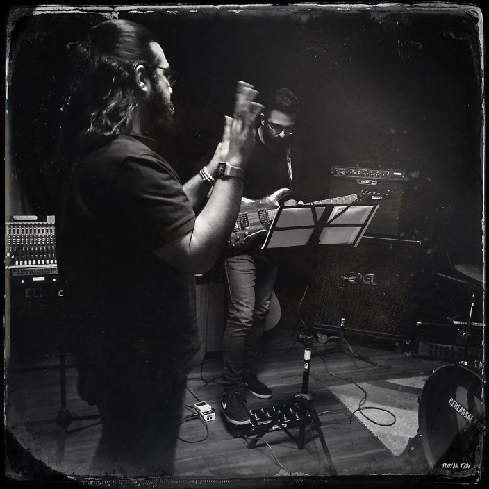 First rehearsal of Reza Yazdani's Canadian band in Toronto. They are getting ready for their Canadian Tour. Photo by Pooyan Tabatabaei