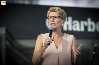 Premier of Ontario, Kathleen Wynne. Tirgan Festival 2017 at Harbourfront Center, Toronto
