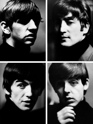 An early series of portraits of The Beatles, circa 1963. Sent to Liverpool by Paris Match magazine to cover the Beatlemania phenomenon, Hatami managed to gain access backstage at the legendary Cavern Club and captured these images of the Fab Four.