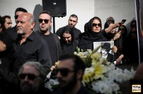 مهناز افشار در مراسم وداع با ناصر ملک مطیعی - عکس از مجید فراهانی
