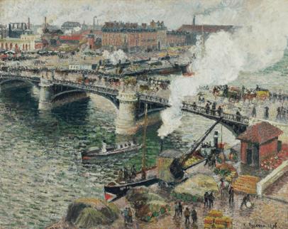 Camille Pissarro, Le Pont Boieldieu a Rouen