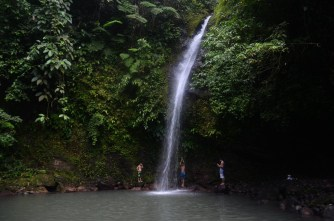BUSAY FALLS of Malilipot, Albay 25 kilometers from the city proper of Legazpi tucked in the rugged fastnesses of Mt. Busay is Busay Falls with its seven cascades. It's a popular destination for locals who flock to this refreshing wonder especially during weekends and holidays.