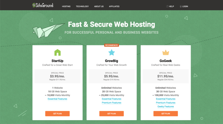 Choosing Your Hosting Plan