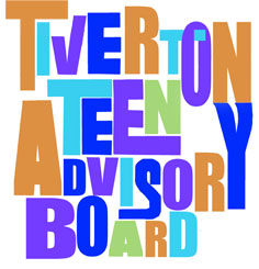 Colorful and funky text that says Tiverton Teen Advisory Board