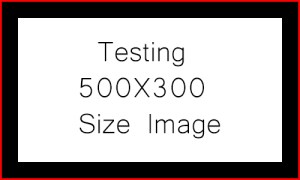 """Text that says """"Testing 500X300 Size Image"""""""